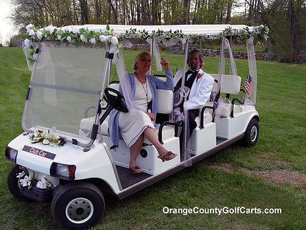 Wedding rental golf cart