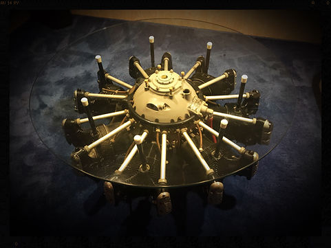 Jacobs Aircraft Engine Coffee Table