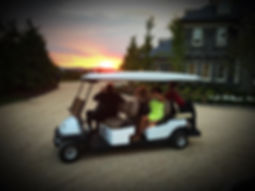 Golf Car wedding rentals