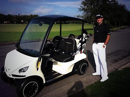 Bubba Watson Luxury custom golf carts Diane