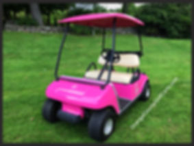 PINK electric golf cart