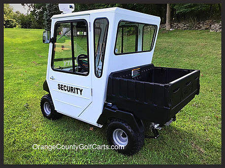 First Responder mini-security golf carts