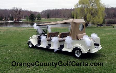 wedding golf cart
