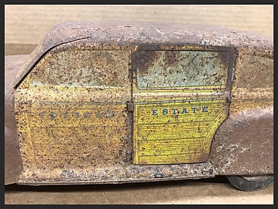 Antique metal toy car