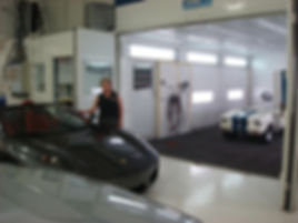 mustang being painted Luxury custom golf carts Diane