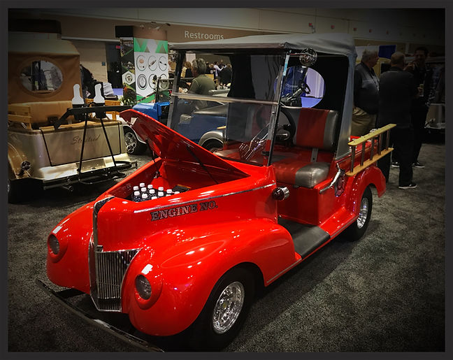 1940 Ford Fire Truck golf cart