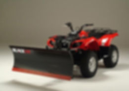 Black Line Snow Plow ATV