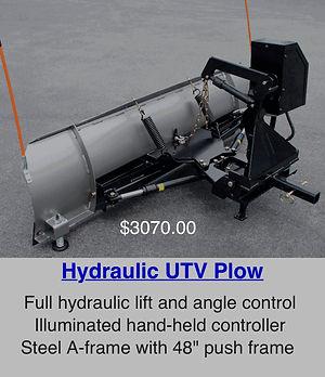 hydraulic utv plow golf cart