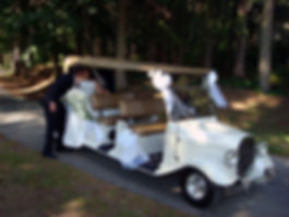 Golf Cart Wedding Rental