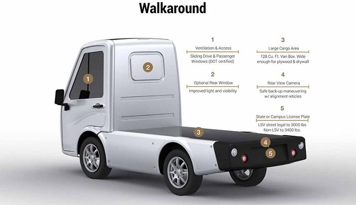 411 walk around electric truck