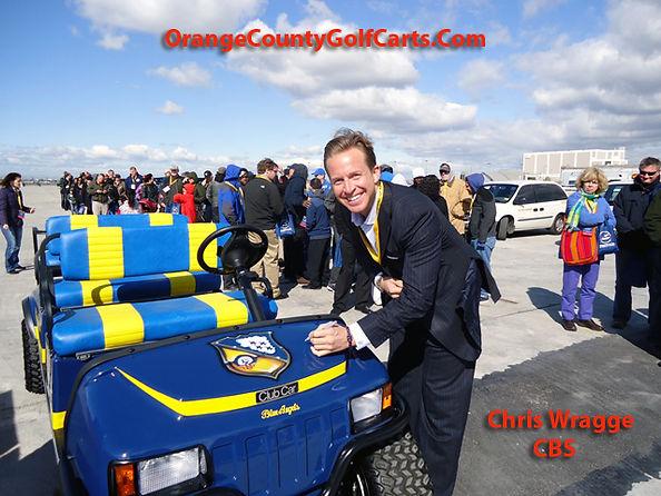 Chris Wragge CBS NEWS NY Luxury custom golf carts Diane