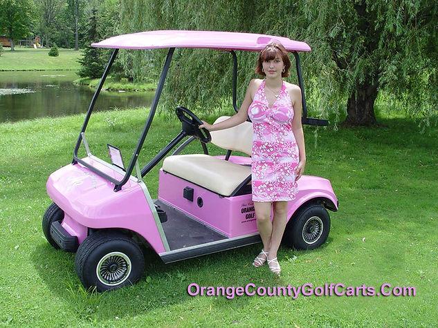 Pink Golf Cart Barbie Doll