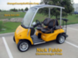 Diane GARIA Golf Car Nick Faldo