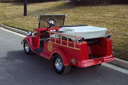 Fire Truck golf cart Diane