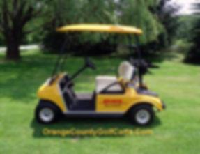 DHL golf cart