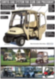 Curtis Club cargolf cart cabs
