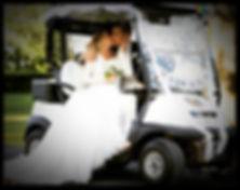 golf cart weddings