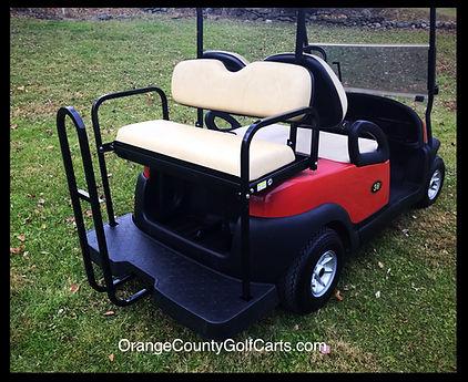 fold down rear golf cart rear seat