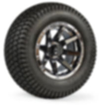 custom golf cart wheels tires