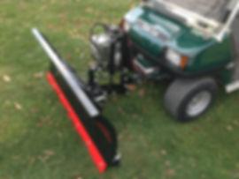 golf cart snow plow
