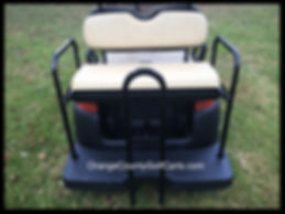 fold down rear golf cart rear seat