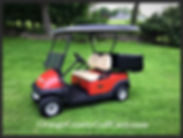 precedent golf car with poly box