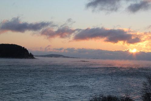Bar Harbor Maine Winter Sky (bh3)