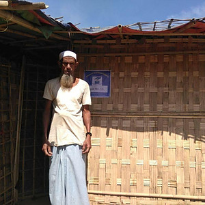 Shelters for Rohingya refugees