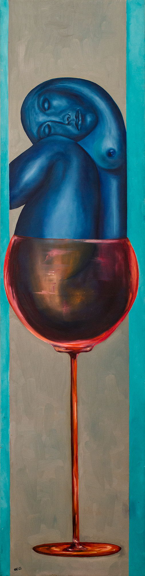 Frau im Glas 2
