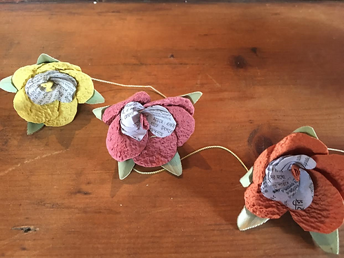 Paper/Wire Flowers Hibiscus or Poppy