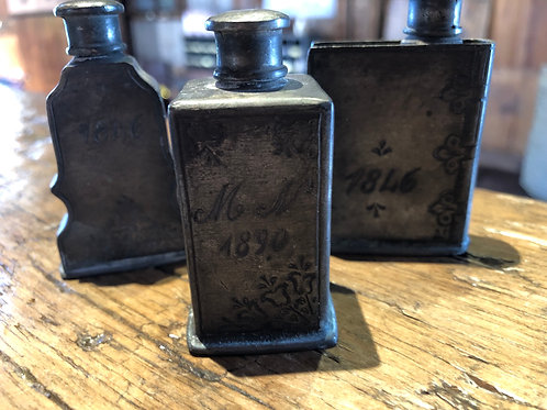 Set of 3 Antique Perfume Bottles