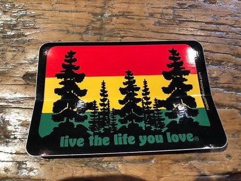 """Live The Life You Love"" Bumper Sticker"