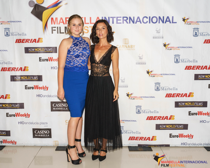 Olivia Bella and Tiana Smith at Marbella Film Festival