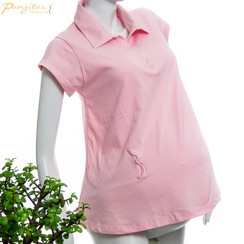 Vista Lateral Camiseta Materna Polo Panzitas