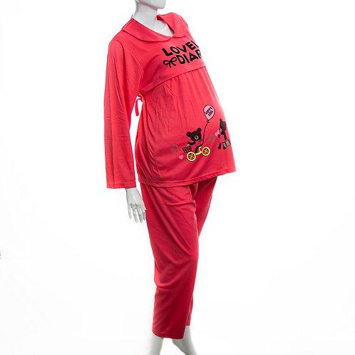 Pijama pantalón de lactancia.