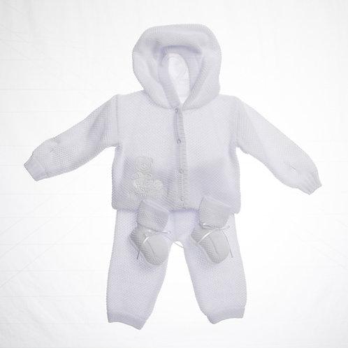Conjunto tejido para Bebé Capota