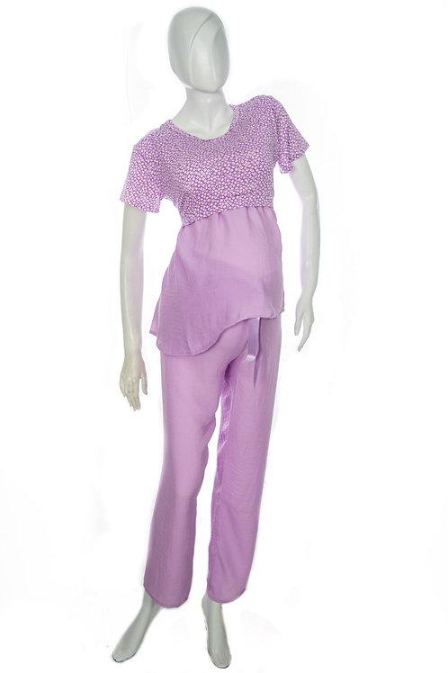 Pijama Pantalón Materna en Satín