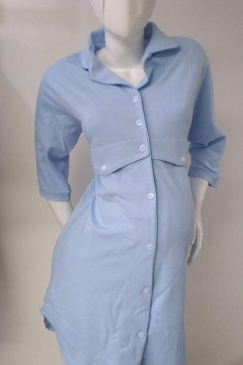 Pijama Materna en Bata Estilo Camisón