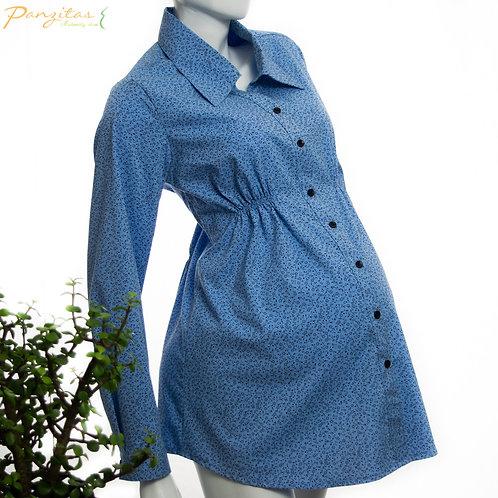 Vista Lateral Camisa Materna para Oficina
