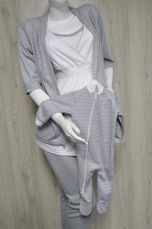 Pijama Materna Pantalón Juego 4 Piezas Mamá+Bebé