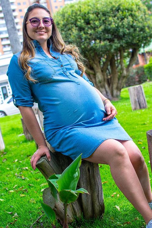 Vestido Materno en Jean