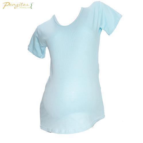 Camiseta Materna Manga Corta En Algodón