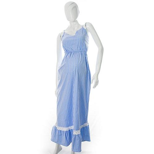 Vestido Materno Largo Azulina