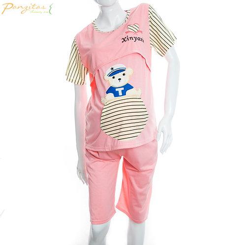Pijama Pantalón Capri manga corta