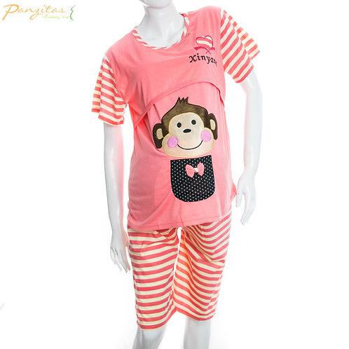 Pijama Capri Materna Manga Corta