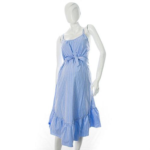 Vestido Materno Corto Azulina