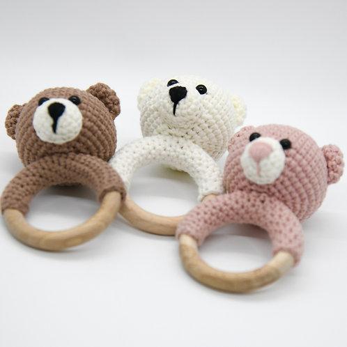 Crochet Rattle Bear