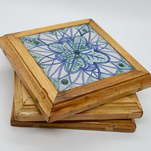 Mandala Hand-painted Serving Coasters