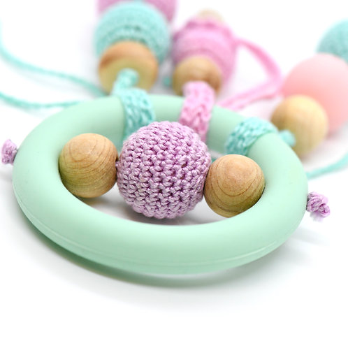 Mint Wooden Teether Toy - Ice cream-Newborn Gifts Singapore