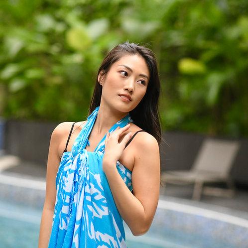 Turquoise & White Sarong
